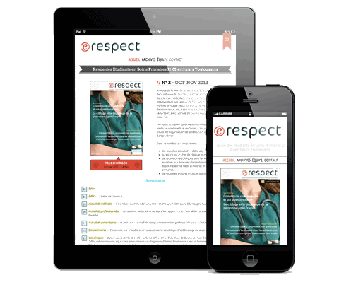 An online magazine and its responsive website g design Internet magasin